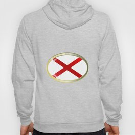 Alabama State Flag Oval Button Hoody