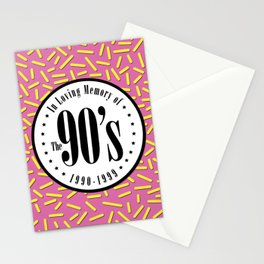 "In Memory of ""The 90's"" Stationery Cards"