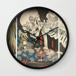 Takiyasha the Witch and the Skeleton Spectre Wall Clock