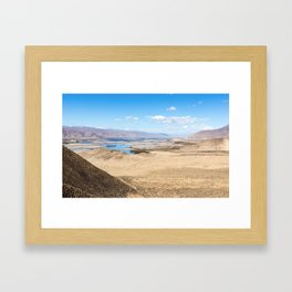 Tibet: Brahmaputra river Framed Art Print