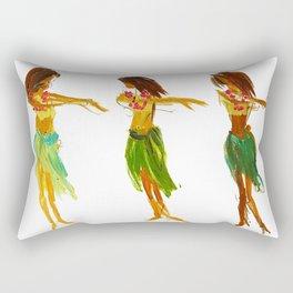 Hula Lessons Rectangular Pillow