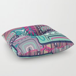 African Boho Geometric Pattern Floor Pillow