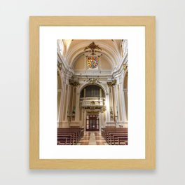 From The Main Altar - St. Justin Cathedral (Chieti, Italy) Framed Art Print