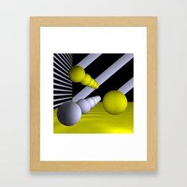 3D-geometry -9- Framed Art Print