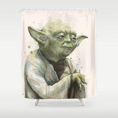 Yoda Jedi Portrait Sci-Fi Shower Curtain