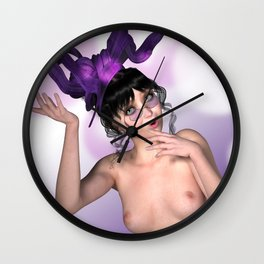 Leave your hat on Katie Wall Clock