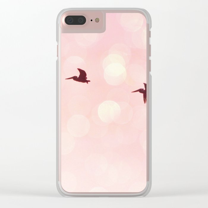 Pelicans Flying Clear iPhone Case