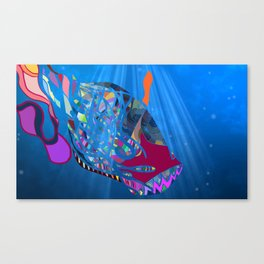 John 8/44+TheFish Nonrandom-art2 prime Canvas Print