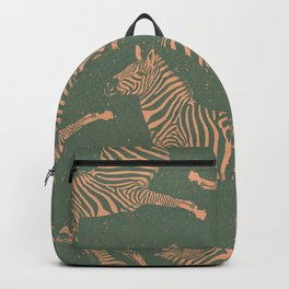 Safari Potpourri Peach Green Backpack