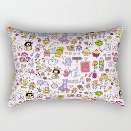 Alice in Doodleland Rectangular Pillow