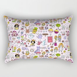 Alice in Doodleland Rectangular Pillow