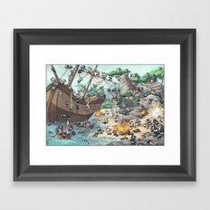 PiratesVSNinjas Framed Art Print