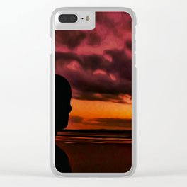 Watching the Sun go down Clear iPhone Case
