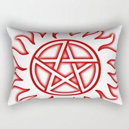 Anti Possession Sigil Red Glow Transp Rectangular Pillow