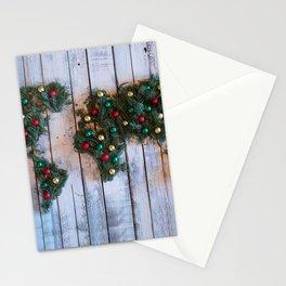 Joy to the World Holiday Map Art Stationery Cards
