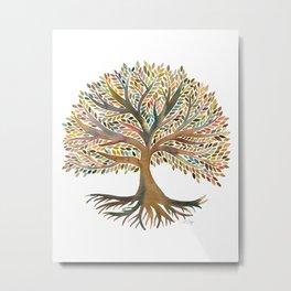 Tree of Life Watercolor – Autumn Metal Print