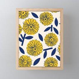 Floral_blossom Framed Mini Art Print