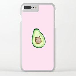 Avocado Cat AvoCATo Clear iPhone Case