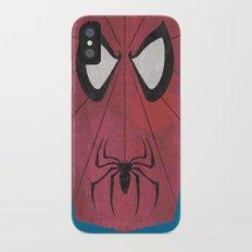 Minimal Spiderman iPhone X Slim Case