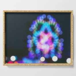 Abstract Ferris Wheel Lights Serving Tray