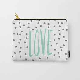 Love dot com — mint Carry-All Pouch