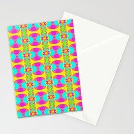 Neon Kaleidoscope Stationery Cards