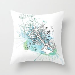 Ribcage in Colour Throw Pillow
