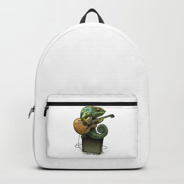 Chameleon Plays The Guitar Backpack