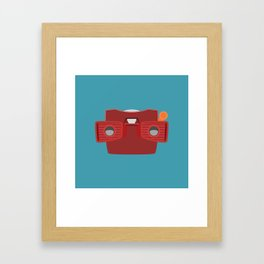 Viewmaster Illustration Framed Art Print
