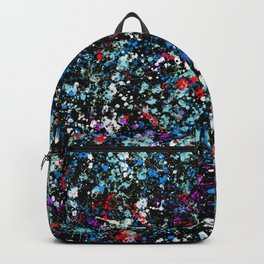 paint drop design - abstract spray paint drops 4 Backpack