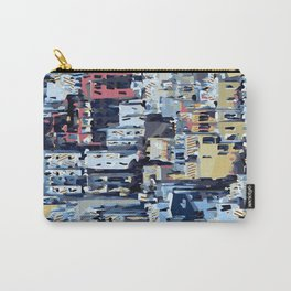 red yellow blue pink drawing and painting abstract background Carry-All Pouch