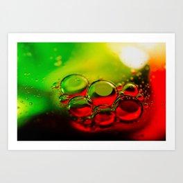 Bubble Art Multi Colored Illustration Art Print