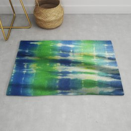 Tie Dye in Blue and Green 2 Rug
