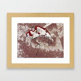 Phantom In The Snow Framed Art Print