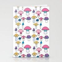 mushroom Stationery Cards featuring Mushroom by Elyse Beisser