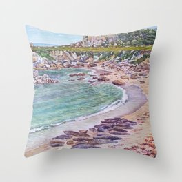 Harbor Seals at Hopkins Beach Throw Pillow