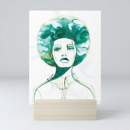 Green Afro Queen Mini Art Print