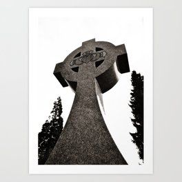 Celtic Cross Claddagh Art Print