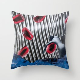 Floating On Pomegranate Throw Pillow