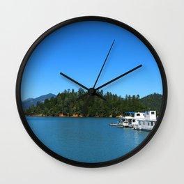 Houseboats On Lake Shasta Wall Clock
