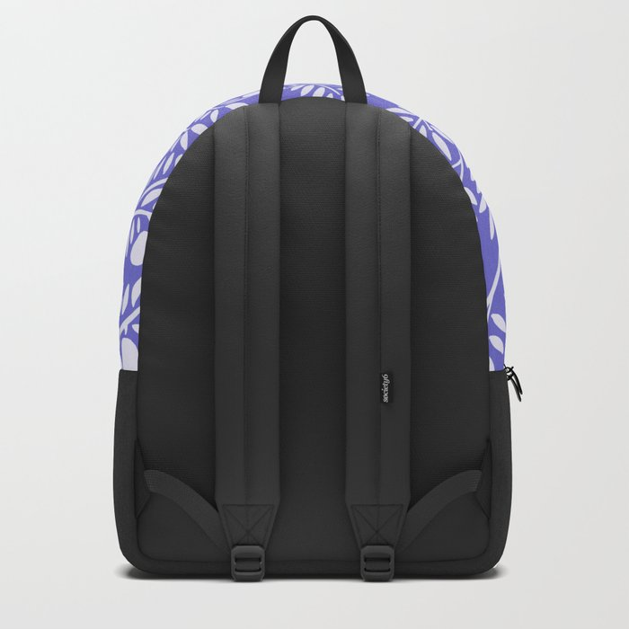 Olive Branches – Periwinkle Backpack