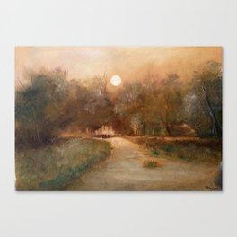 Impressionist Landscape Oil Painting Canvas Print