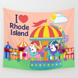 Ernest and Coraline | I love Rhode Island Wall Tapestry