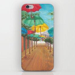 Umbrella Street iPhone Skin