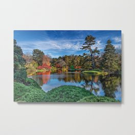 The Pond - Astico Azalea Garden Metal Print