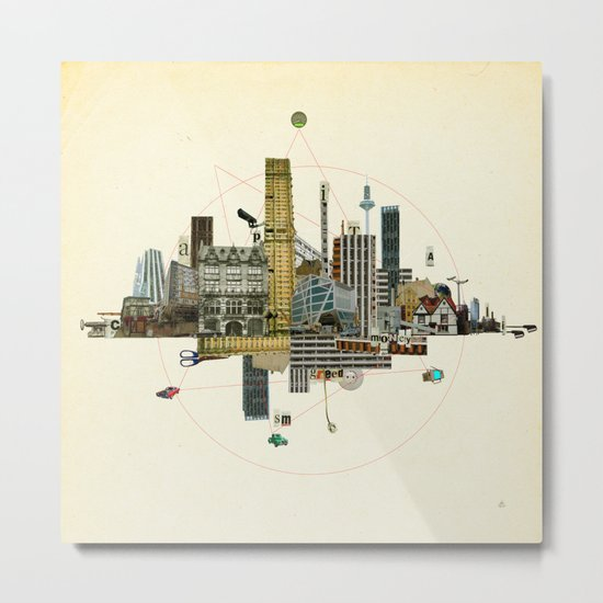 Collage City Mix 8 Metal Print