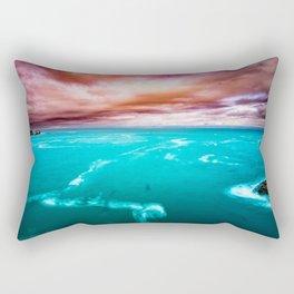 Fire and Water Sea Rectangular Pillow