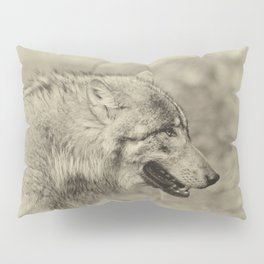 lonesome wolf Pillow Sham