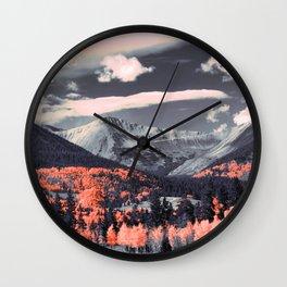 Vibrant mountainous landscape Wall Clock