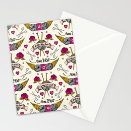 Born To Knit Stationery Cards